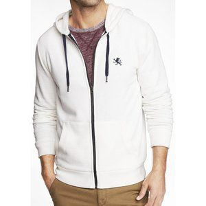 Express White Hoodie Sweater with Logo